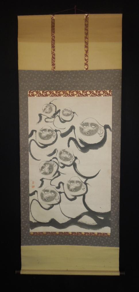 japanese figure paintings hanging scroll
